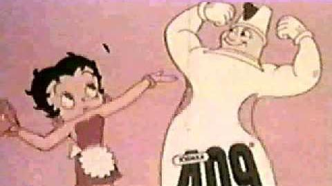 Vintage Commercial - Betty Boop 409 Cleaner