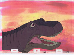 Land Before Time Original Production Animation Cel & Copy Bkgd -A22163