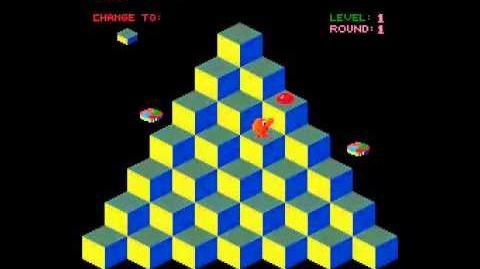 Faster, Harder, More Challenging Q*bert 1983 Mylstar Electronics