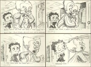 Betty Boop 1993 MGM Film Storyboards
