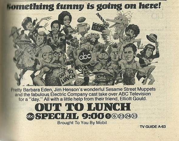 Out to lunch lost 1974 sesame streetelectric company crossover out to lunch lost 1974 sesame streetelectric company crossover special thecheapjerseys Image collections