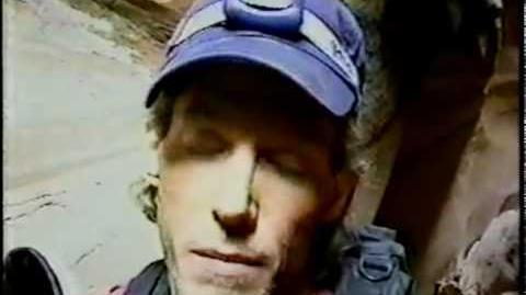 Aron Ralston's Real Video Footage (One Clip - Aron Ralston)