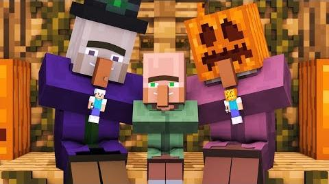 Villager & Witch Life- FULL ANIMATION - Alien Being Minecraft Animation