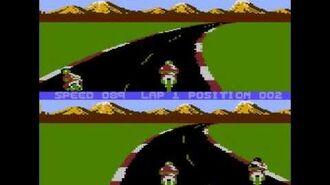 Speed Ace - two players gameplay - Atari 8-bit