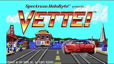 Vette! (PC DOS) 1989 Spectrum Holobyte, Sphere