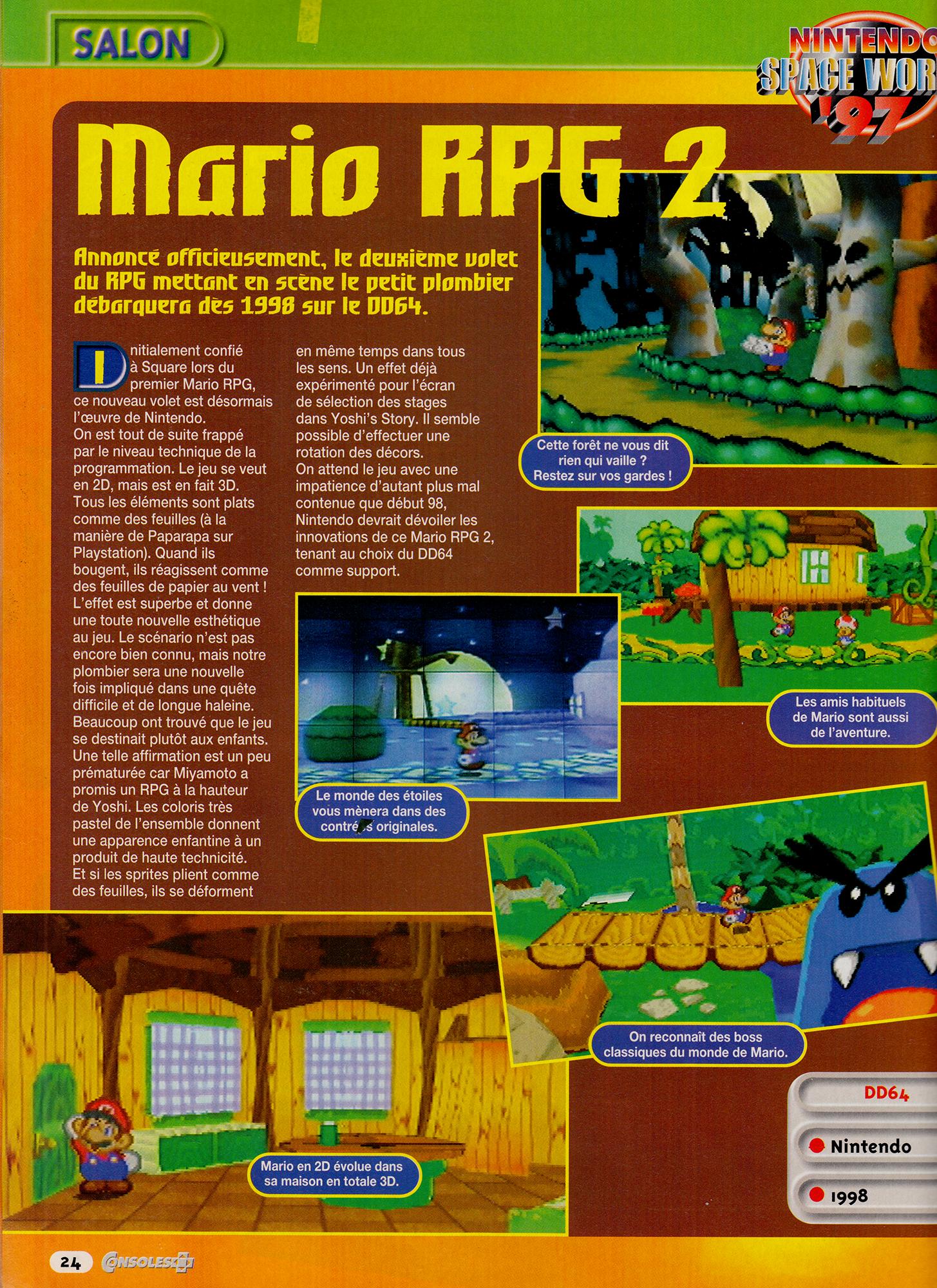Super Mario RPG 2 (Early Paper Mario Beta)   Lost Media Archive