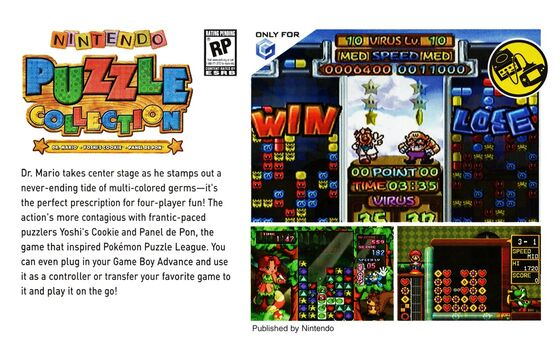 Nintendo puzzle collection promotional page