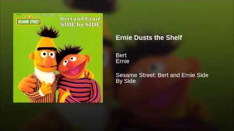 Ernie dusts the shelf (Lost 1969 Sesame Street Ernie and Bert sketch)