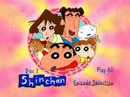 Shin Chan Volume 2 Main Menu