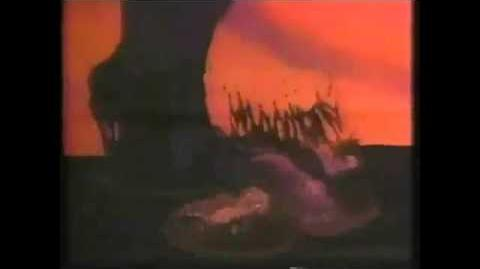 The Land Before Time Sharptooth scene restoration