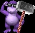 BonziWORLD Bonzi Ban Hammer Rare Sprite