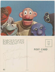 Sam and Friends postcard