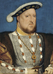 427px-Hans Holbein, the Younger, Around 1497-1543 - Portrait of Henry VIII of England - Google Art Project