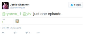 Jamie Shannon has one episode of Weird Years