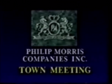 Philip Morris Companies Town Meeting high quality (Lost 1989)