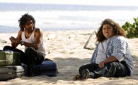 Sayid Hurley 1x02