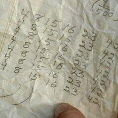 Os Números nas anotações de Danielle