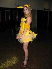 Female pikachu cosplay 001