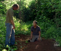 Sawyer & Miles over Juliet's grave
