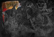 Wandgemälde - Kolonie mit Anführer