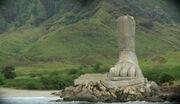 Foot-statue