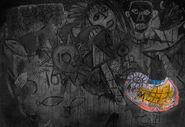 Wandgemälde - Monster