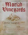 Moriah vineyards etiquette