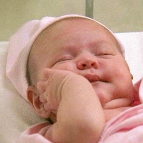 Megan Pace como bebê