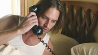 Sawyer recieves a call from Jin