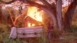Cabane d'Horace brûlée