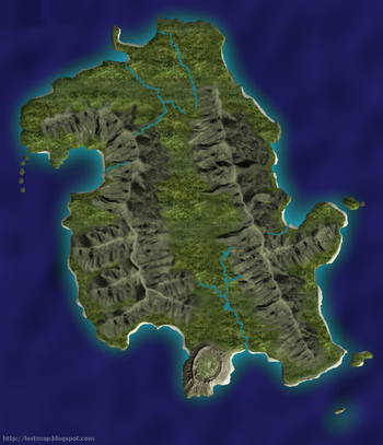 LOST-Inselkarte