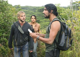 Sayid Ana Charlie jungle 2x16