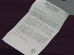 Lisa's letter