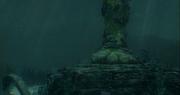 Standbeeld onder water