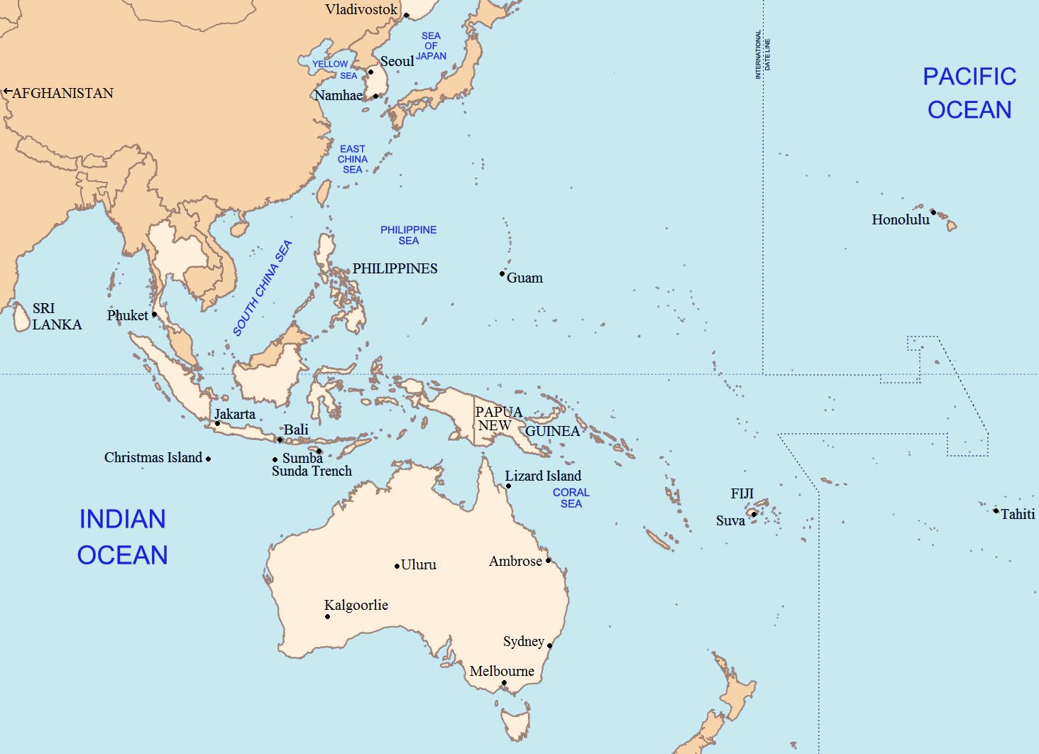 World Locations Lostpedia FANDOM Powered By Wikia - Guam world map