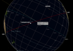 Oceanic 815 geplante Route