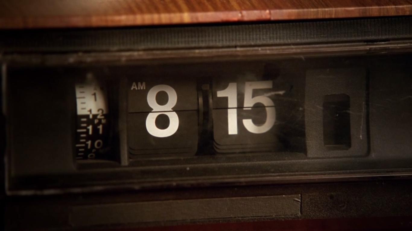 Flip Clock Appearing on Episode 1 of Season 5 Unmasked   Lostpedia