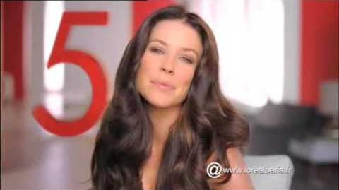 Evangeline Lilly L'Oréal Total Repair 5 commercial
