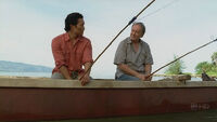 Jin and Bernard fishing