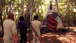 Oldham's tent