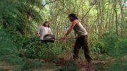3x19 Sayid with shovel