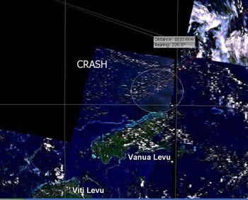 Oceanic 815 mögliche Absturzzone