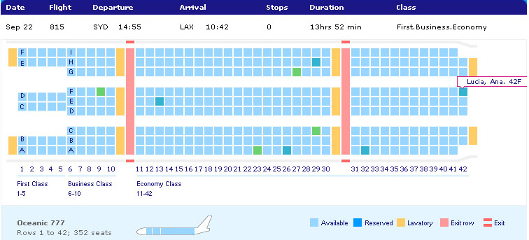 Flight 815 Seat Numbers Lostpedia Fandom Powered By Wikia
