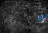 Wandgemälde - gefallene Menschen