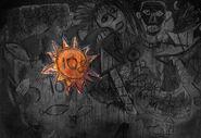 Wandgemälde - Sonne