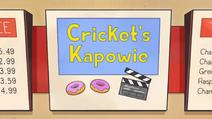 Cricket's Kapowie titlecard