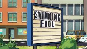 Swimming Fool titlecard