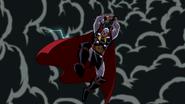 Thor, empuñando a Mjolnir en Wakanda