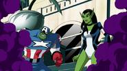 Veranke y Capitán Skrull