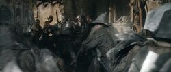 Gandalf fighting at Battle of the Five Armies